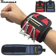 Rammus 13.8'' Wrist Support Strong Magnetic For Screw Nail Holder Wristband Band Tool Bracelet Belt Support Protection Kit DIY  Price: 5.41 USD