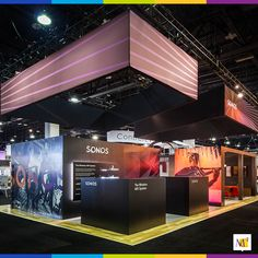 To help Sonos market their wireless home audio systems, they needed a display that was modern and impressive. We proudly put together this vast and sleek display that captured everyone's attention at the trade show. #exhibit #tradeshow #audio #speakers #eventmarketing