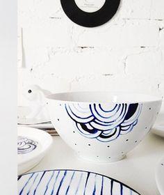 Rinnova i tuoi piatti con nuove decorazioni- dipinti con pennarelli x ceramica no cottura
