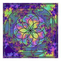 Yantra - Flower of Life Poster -  Created By cefrench : United States