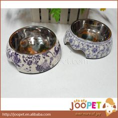 $11.75 for small ceramic dog bowl up to $20 for large aliexpress.com  High Quality Blue and White Porcelain Dog Bowl Ceramic Dog Bowl Large Medium Small Free Shipping   Future: 1.Brand New and High quality. 2.Rubber lining for non-slip of bowl. 3.With a black non-slip strips. 4.Has a relatively good insulation effect. 5.Dogs are also not afraid of no matter how naughty knocked over. 6.Washable high-temperature, non-deformation, beautiful and generous. 7.Can be splited, bottom bowl hold food…