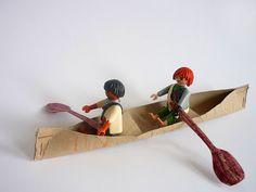 Canoa feita com rolo de papel higiênico | Pra Gente Miúda