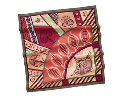 Scarves Hermès Red - Silk Twill - Scarves 90 - Women | Hermès, Official Website