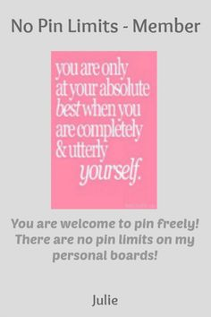 No Pin Limits - Member: Julie - Visit profile here: http://www.pinterest.com/julie2314