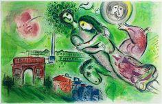 """litho de Marc Chagall """"Roméo et Juliette"""""""