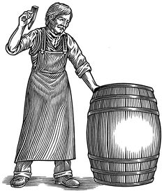 A little while ago, I found myself sketching quite a few images, trying to capture the ideal beer barrel illustration for my client. I was contacted by Jared Richardson, who was heading up a design shop called Fahrenheit in… illustration Engraving Illustration, Fox Illustration, Illustrations And Posters, Funny Vintage Ads, Ink Logo, Woodcut Art, Black White Art, Bird Drawings, Line Art