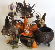 haunted dollhouse Reserved, please don't buy-Dollhouse Miniature Witch or Wizard Shop Mucky Cauldron Tower with Cauldron Cleaner and Snowy Owl. I searched for this Halloween Diorama, Halloween Displays, Halloween Doll, Halloween House, Holidays Halloween, Spooky Halloween, Halloween Crafts, Halloween Decorations, Halloween Party