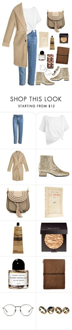 """glitter boots"" by millicent4 ❤ liked on Polyvore featuring Red Herring, Loewe, Yves Saint Laurent, Chloé, Aesop, Laura Mercier, Byredo, Linda Farrow and ALDO"