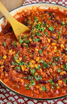 Slimming Eats Turkey Chilli - gluten free, dairy free, Slimming Eats and Weight Watchers friendly