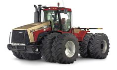 """Steiger 535 Gold Signature Edition tractor (from the book """"Red Tractors The Authoritative Guide to International Harvester and Case-IH Farm Tractors in the Modern Era"""") Case Ih Tractors, Big Tractors, Farmall Tractors, International Tractors, International Harvester, Logging Equipment, Heavy Equipment, New Holland Agriculture, New Tractor"""