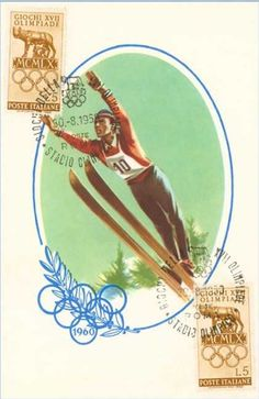 vintages ski poster, 60's styles
