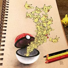 """Mi piace"": 8,101, commenti: 82 - Vince Okerman (@vexx_art) su Instagram: ""Throwback to a drawing from last year  #tbt  What do you think of the Pokémon Go craze ? (I love…"""