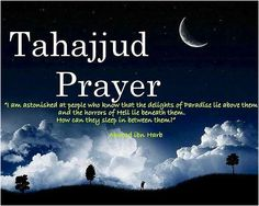 Tahajjud prayers