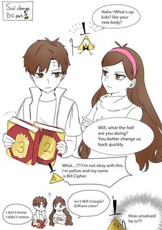 Gravity Falls Anime, Reverse Gravity Falls, Gravity Falls Comics, Reverse Falls, Glitter Lucky, Dipcifica, Mabill, Dipper And Mabel, Birthday Cards For Friends