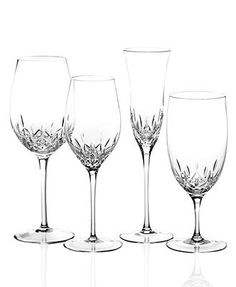 Waterford Stemware, Lismore Essence Collection - Stemware & Cocktail - Dining & Entertaining - Macy's Bridal and Wedding Registry Waterford Lismore, Waterford Crystal, Crystal Glassware, Highball Glass, Crystal Collection, White Wine, Wine Glass, 1, Cocktail