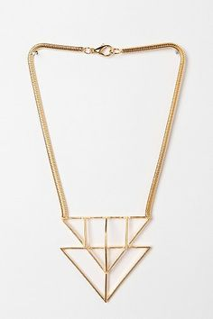 Geometric Necklace / Jill Golden  #lulusholiday