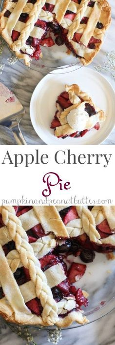 Apple Cherry Pie - pumpkinandpeanutbutter
