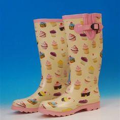 Cupcake Wellington boots