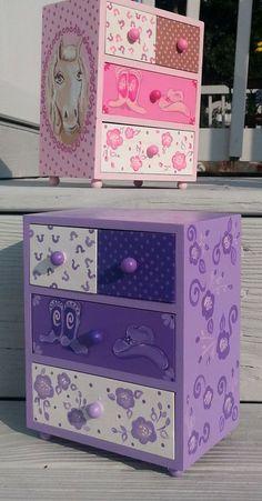 chica cowboy personalizada caja de joyería del niño