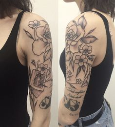 Last additions to 's upper sleeve by Long Stories, Book Tattoo, Dot Work Tattoo, Blackwork, Artists, Tattoos, Sleeve, Instagram, Manga