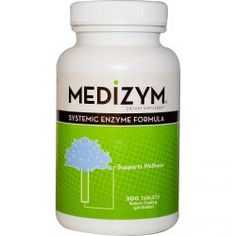 Naturally Vitamins, Medizym, Systemic Enzyme Formula, 200 Tablets, Diet Suplements 蛇