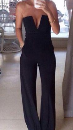 Plunge wide leg jumpsuit #dress #buyable