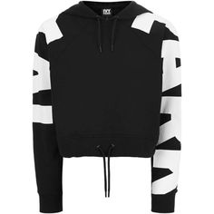 Logo Sleeve Cropped Hoodie by Ivy Park ($41) ❤ liked on Polyvore featuring tops, hoodies, hooded pullover, logo hoodie, cropped hooded sweatshirt, logo top and sweatshirt hoodies