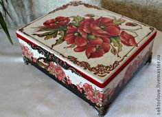 VK is the largest European social network with more than 100 million active users. Jewellery Boxes, Jewelry Box, Decoupage Vintage, Vintage Box, Fascinator, Stencils, Decorative Boxes, Hand Painted, Diy