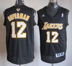 239b484aecf Los Angeles Lakers Dwight Howard Black With Purple Swingman Jerseys