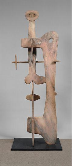 Kouros Isamu Noguchi (American, Los Angeles, California 1904-1988 New York City) Fecha: 1944-45 Medio: Mármol Dimensiones: H. 117 pulgadas (297,2 cm) Base: D. 34-1/8, W. 42 pulgadas (86,7 x 106,7 cm)