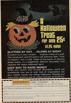 Popcorn Halloween decor ad