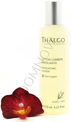 Thalgo Exfoliating Lotion is recommended all those wishing to brighten their complexion, who already have visible pigmentation marks or want to prevent their appearance. #Thalgo #skincare #pigmentation #cleanser #exfoliator #lotion