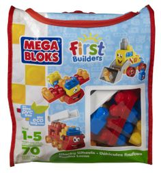 Amazon.com: Mega Bloks First Builders Wacky Wheels Themed Bag Building Set: Toys & Games I want this and the block table for the kids