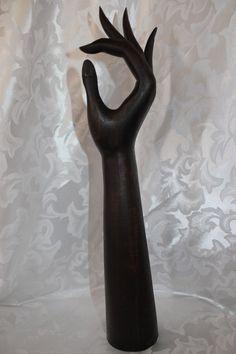Vintage Large Wood Hand Sculpture