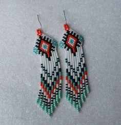 Lang Indiase stijl kralen oorbellen tribal stijl boho door Olisava