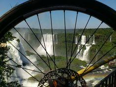 Passeio de bike nas Cataratas do Iguaçu