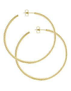 Caviar Gold Hoop Earrings | LAGOS.com