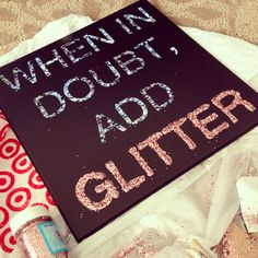 Paint, glue, and glitter doesn't get much easier than that! #glitter #diy #crafts
