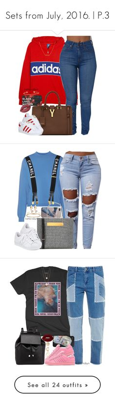 """""""Sets from July, 2016.   P.3"""" by kahla-robyn ❤ liked on Polyvore featuring adidas Originals, Yves Saint Laurent, adidas, Lime Crime, Diane Kordas, Dutch Basics, Acne Studios, Balenciaga, Cartier and Jennifer Fisher"""