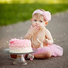 1st birthday photo! TOO cute!