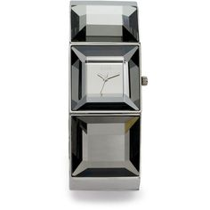 Storm Coco Faceted Stainless Steel Watch/Silver ($79) ❤ liked on Polyvore