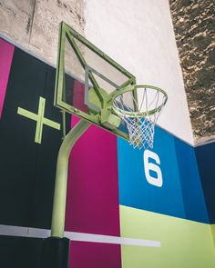 pigalle basketball court in paris gets 2020 refresh with gaming-inspired graphics - - Basketball Shooting, Basketball Goals, Love And Basketball, Basketball Court, Backyard Basketball, Portable Basketball Hoop, Basketball Equipment, Pigalle Basketball, Nba
