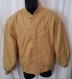 Mens Vintage Tan All Weather Peters Sportswear Jacket Talon Zipper (Size 38) #Peters #BasicJacket