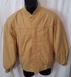 Mens Vintage Tan All Weather Peters Sportswear Jacket Talon Zipper (Size 38) #Peters #BasicJacket