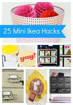 25 Mini Ikea Hacks {Quick & Easy Tutorials}...make some thing awesome in minutes!!!  EverythingEtsy.com #ikea #ikeahack