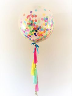 Large Confetti Balloon, Huge Jumbo Size 90cm party decoration! by ThisLittleParty on Etsy