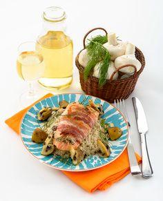 SAUMON À L'ANETH ET AU BACON Un beau repas pour célébrer le poisson préféré de tous.