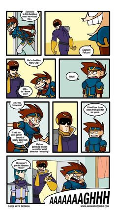 AWKWARD ZOMBIE - The One Where Roy Comes Back (Part3) Super Mario Smash Bros, Super Smash Bros Memes, Funny Video Game Memes, Funny Games, Rage Comics, Funny Comics, Awkward Zombie, Fighting Games, Geek Girls