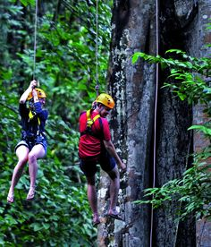 Cliff hanger: Forget relaxing on Thailand's beaches, head to Chang Mai for jungle adventures... #travel #thailand