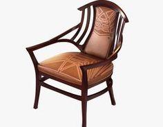 3d model oak upholstered bodenhausen armchair designed by henry van de ve